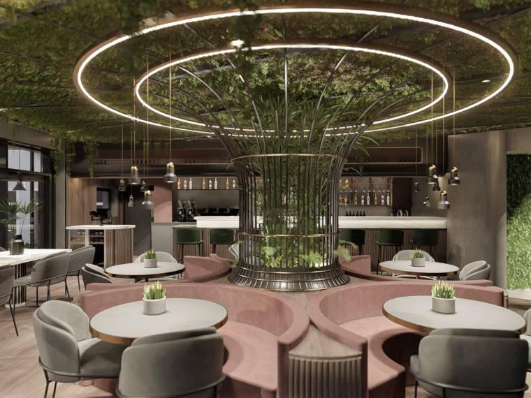 Innenansicht des Café-Bar-Restaurants Ola Kala in Dingolfing